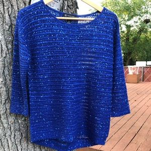 International Concepts sequin sweater